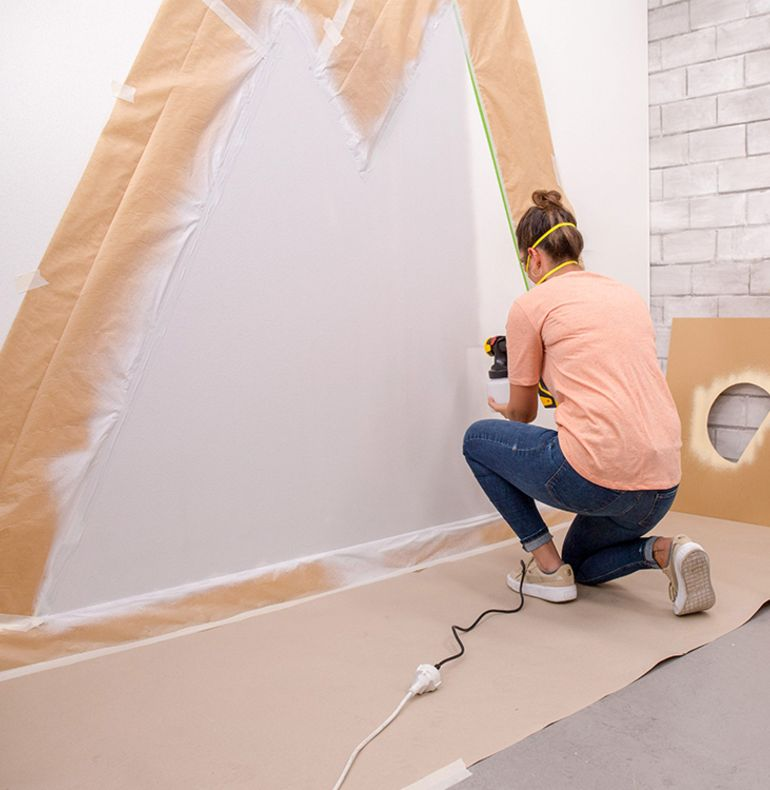 Babyzimmer Wandgestaltung Schritt 9