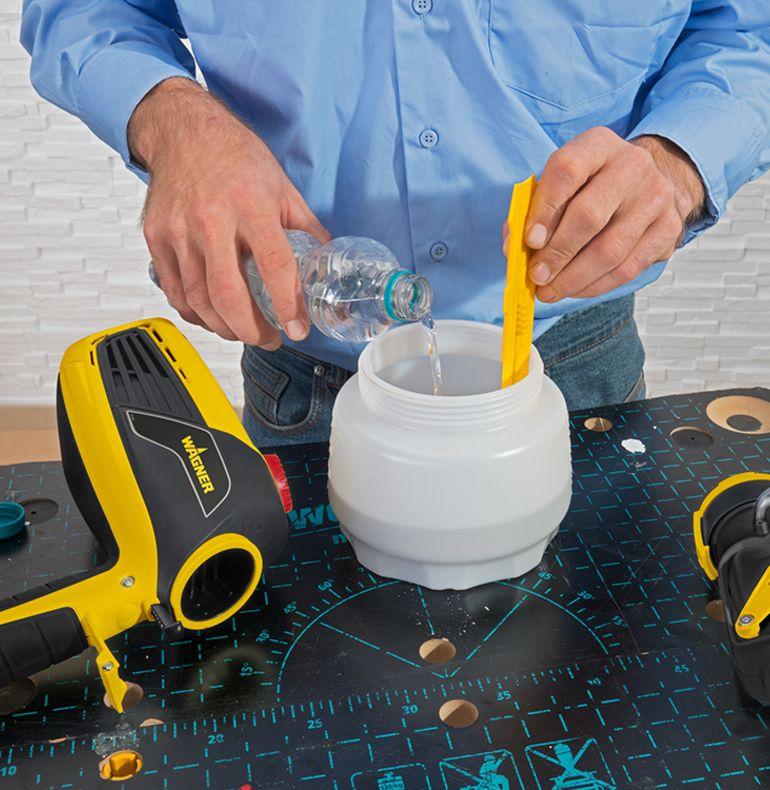 Preparing the sprayer