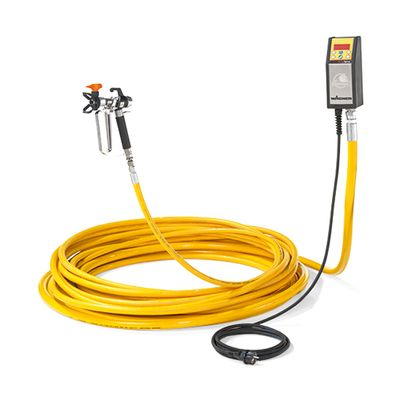 High-performance heating hose for high-viscosity heating materials