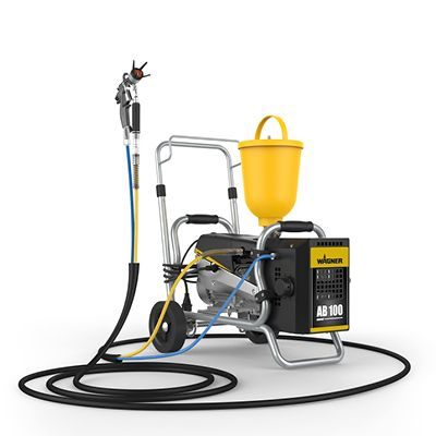 Mobile complete solution for painting work with compressor