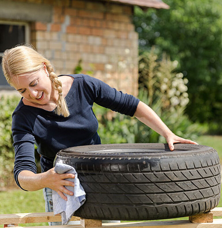 Preparation of the tyre