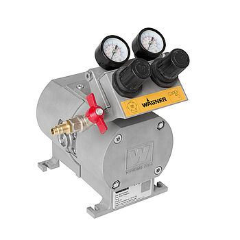 Pneumatically-operated double diaphragm pump