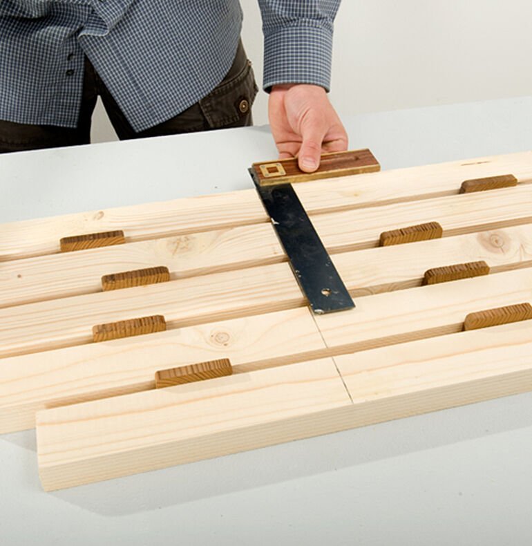 Cutting the seat to size