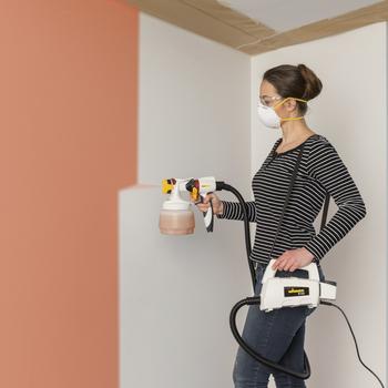 El sencillo sistema de pulverización de pintura para paredes interiores