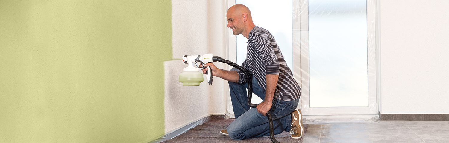 Wall Paint Spray System W 500 The Practical Paint Spray System For Interior Walls Wagner