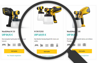 WAGNER product finder