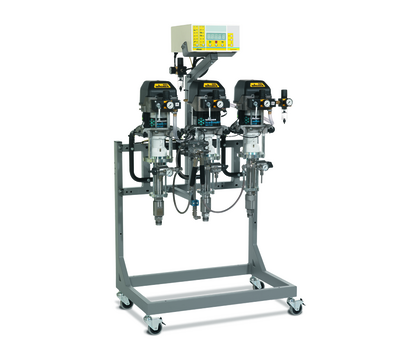 Electronic mixing and dosing system
