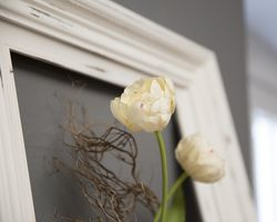 The result: a shabby chic picture frame