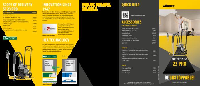 Brochure SuperFinish 23 Pro
