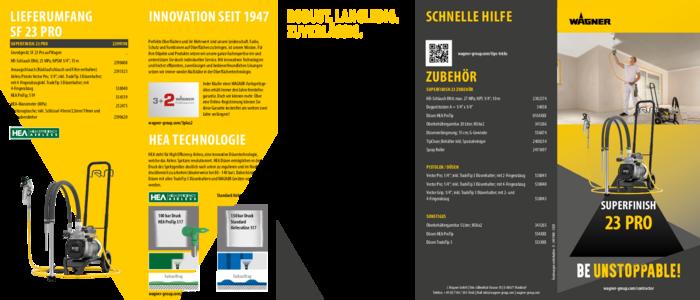Broschüre SuperFinish 23 Pro