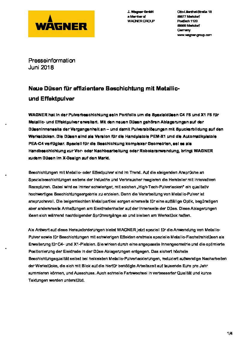 PRESSEMELDUNG METALLICDÜSEN (GER)